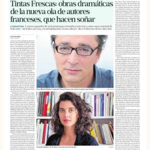 Tintas Frescas: obras dramáticas de la nueva ola de autores franceses, para hacernos soñar