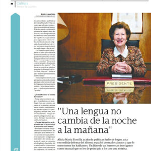 Alicia María Zorrilla: