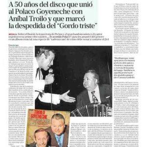 """A 50 años del disco que unió al Polaco Goyeneche con Aníbal Troilo y que marcó la despedida del """"Gordo triste"""""""